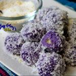 How to make ube cheese palitaw balls